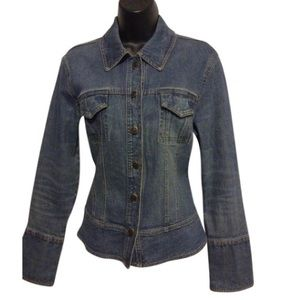 Willi Smith stretch blue denim Jean jacket
